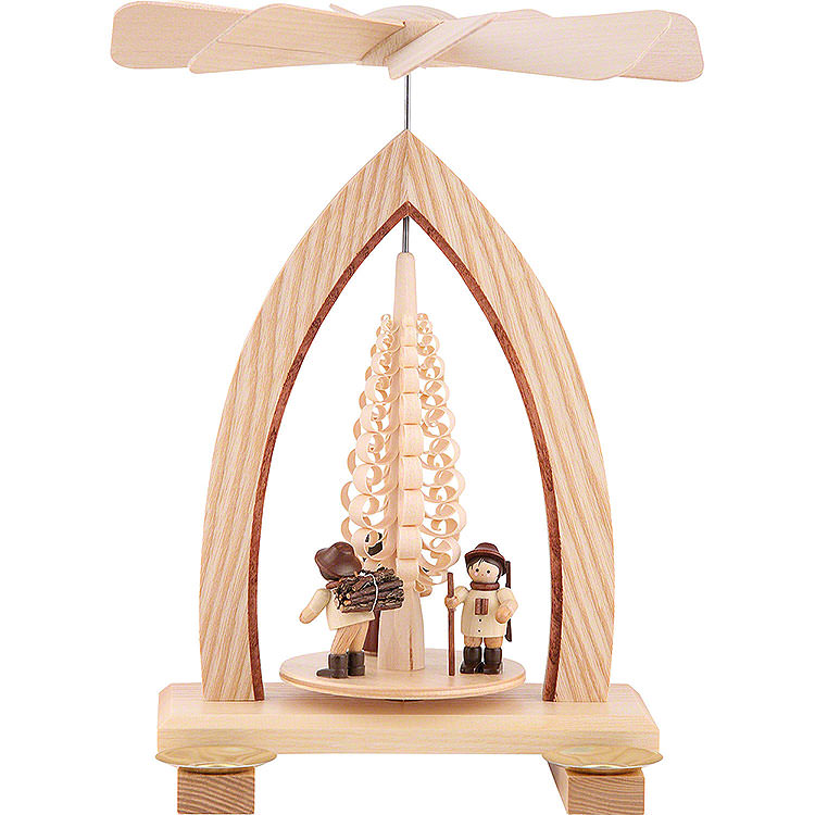1 - Tier Pyramid  -  Forest People  -  Natural  -  26cm / 10.2 inch