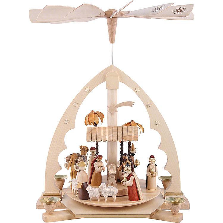 1 - Tier Pyramid  -  Nativity Scene  -  40cm / 16 inch