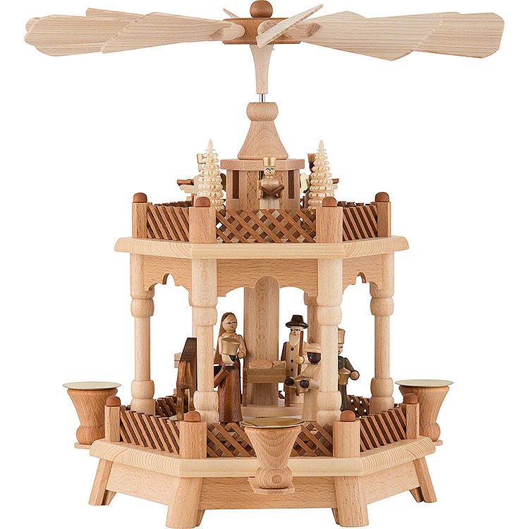 2 - stöckige Pyramide Christi Geburt  -  32cm