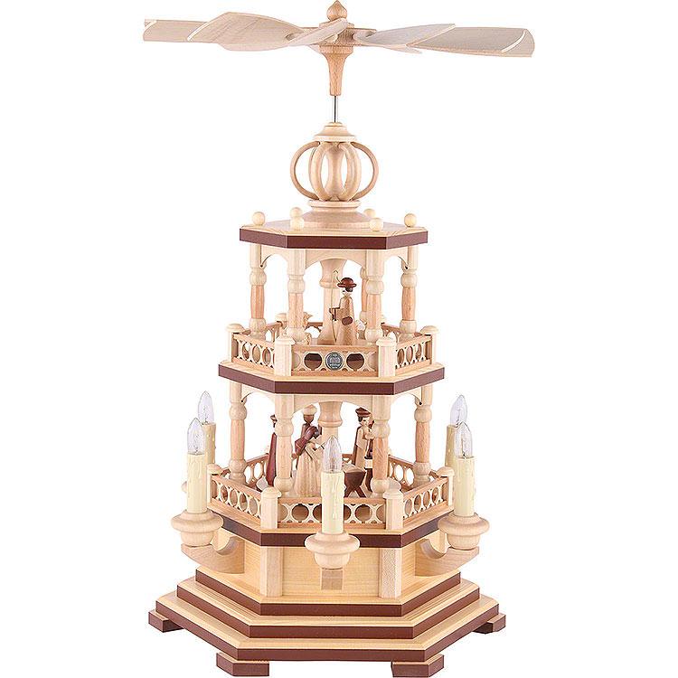 2 - stöckige Pyramide Heilige Geschichte  -  48cm  -  120 V Elektromotor (US - Norm)