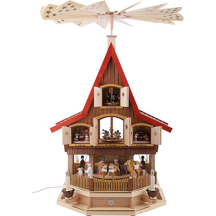 3 - stöckiges Adventshaus  -  Christi Geburt  -  77cm