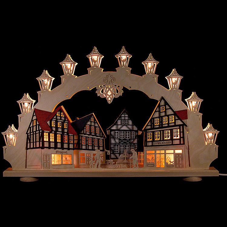 3D - Doppelschwibbogen Altstadt  -  LED  -  66x41x6cm