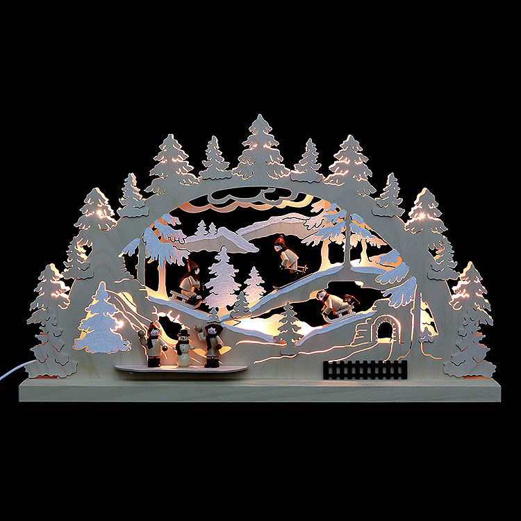 3D Double Arch  -  Winter Countryside  -  62x37x5,5cm / 24x14x2 inch