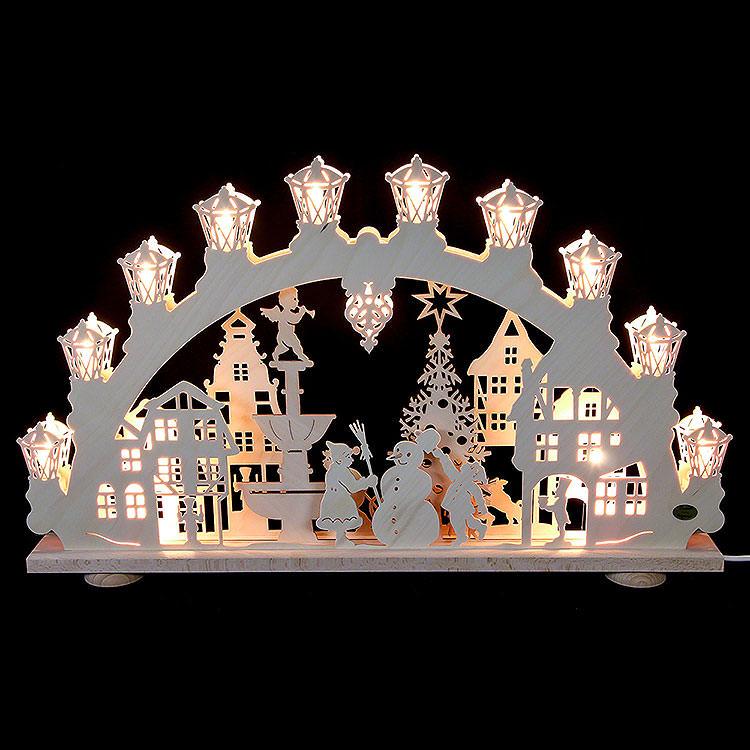 3D - Lichterbogen Winter in der Stadt  -  66x40x6cm