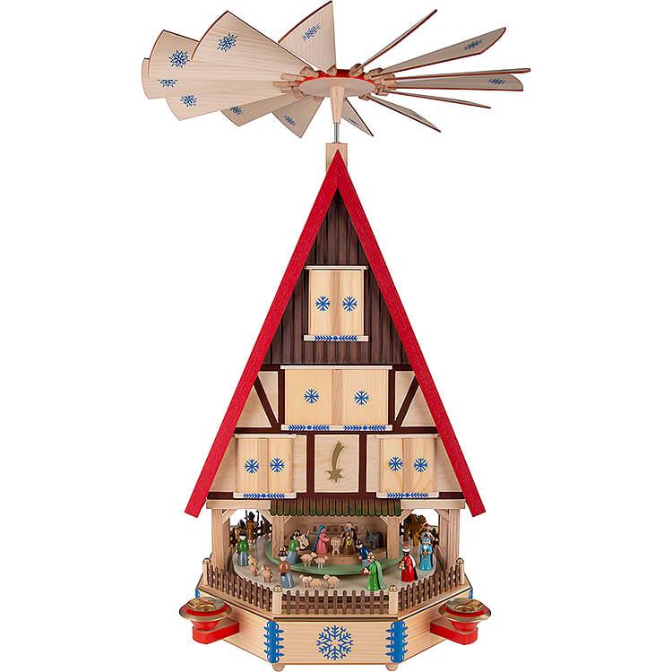 4 - stöckiges Adventshaus  -  Die Ankunft  -  78cm