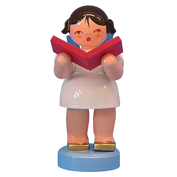 Angel with Book  -  Blue Wings  -  Standing  -  6cm / 2,3 inch