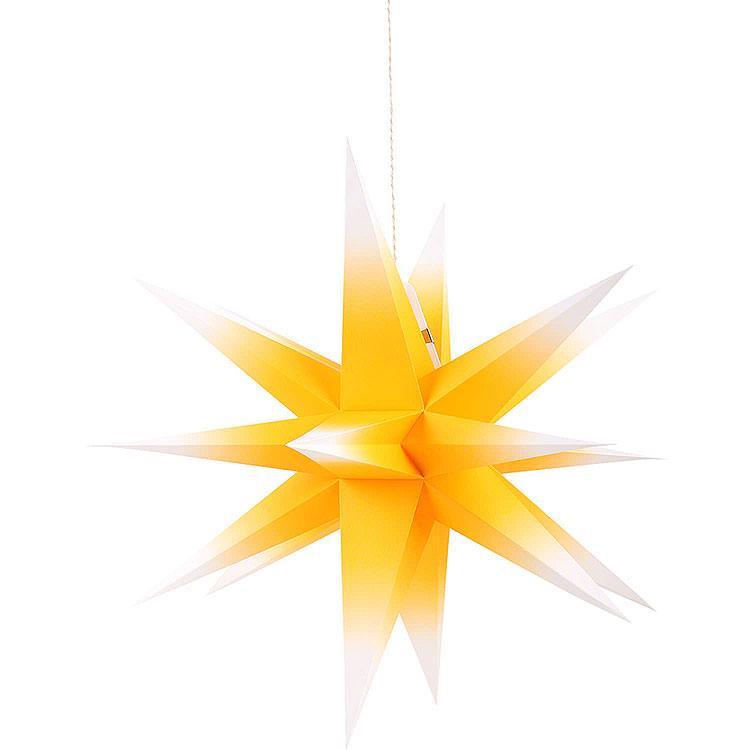 Annaberger Faltstern für Innen gelb - weiß  -  70cm