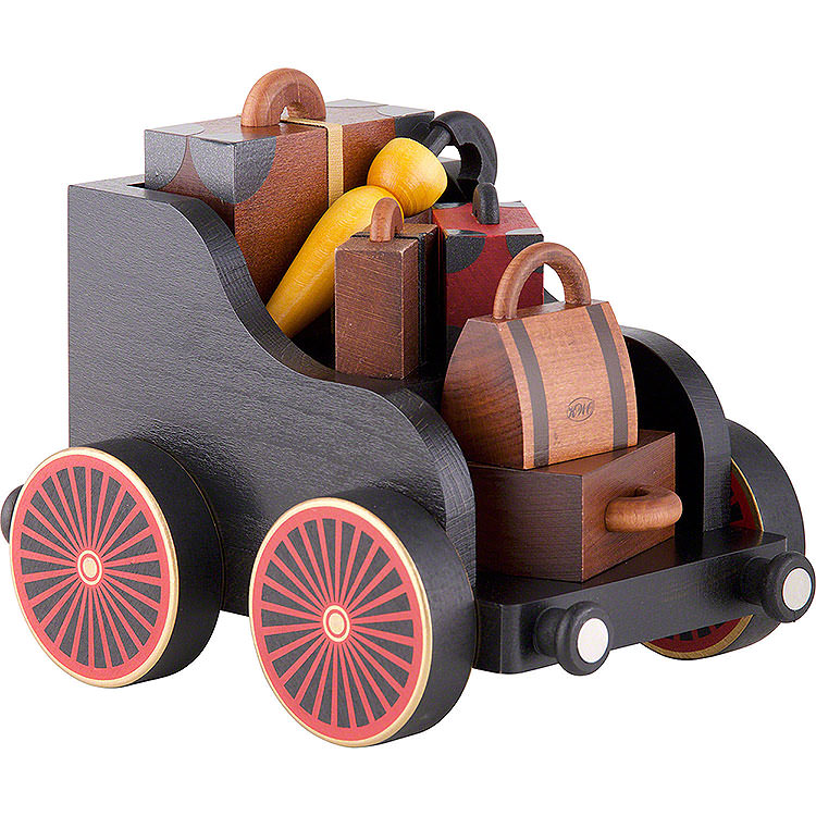 Baggage Cart for Railroad  -  19x13x13cm/7.4x5.1x5.1 inch
