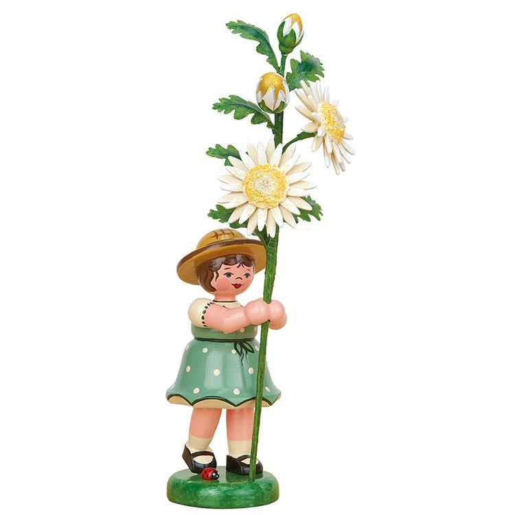 Blumenkind Mädchen mit Edelweißmargerite  -  17cm