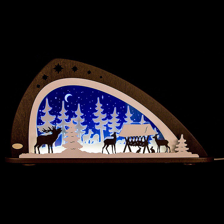 """Candle Arch  -  LED """"Animals of the Forest""""  -  66x33,8cm / 26x13.3 inch"""