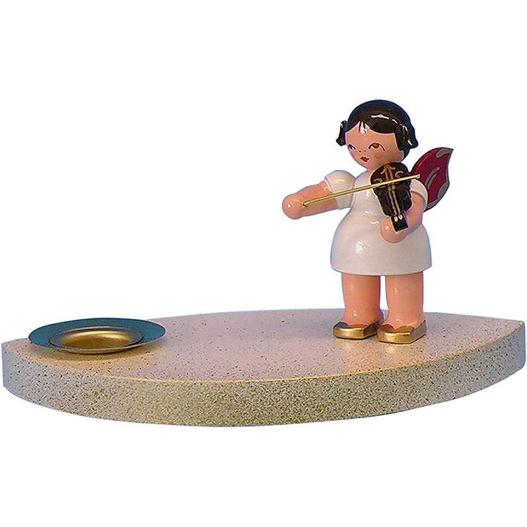 Candle Holder  -  Angel with Violine  -  7cm / 2.8 inch