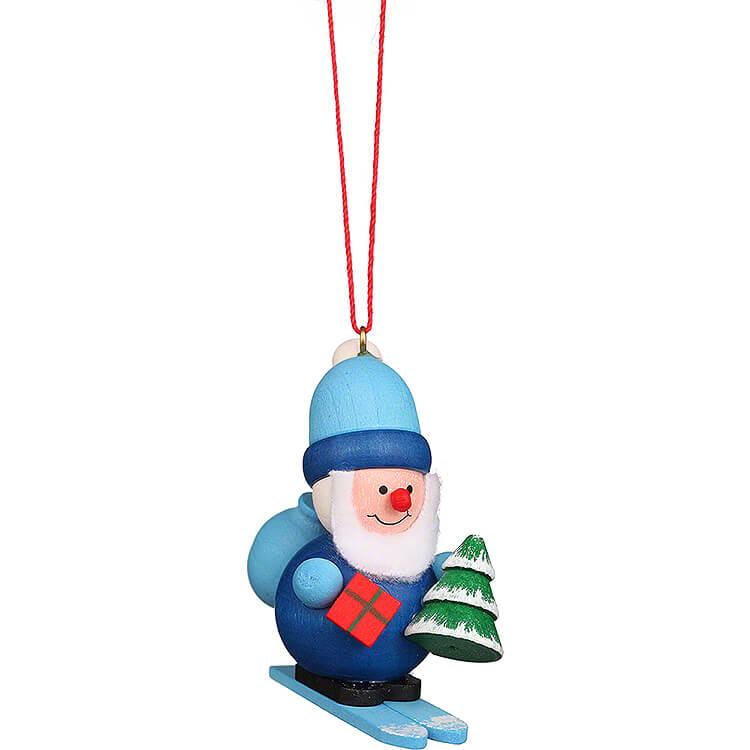 Christbaumschmuck Weihnachtsmann blau  -  5,3cm
