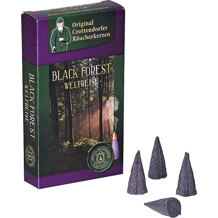 Crottendorfer Incense Cones  -  Trip Around the World  -  Black Forest