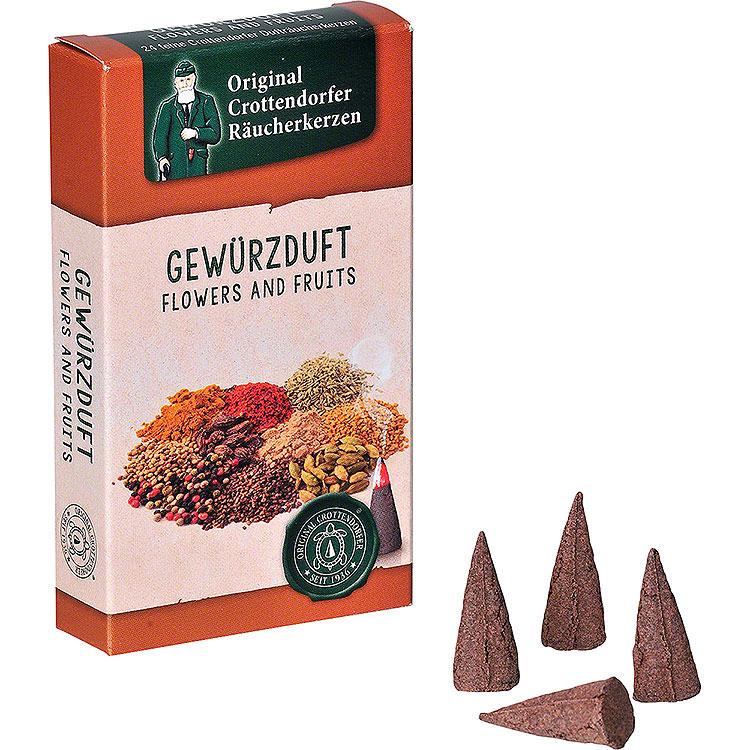 Crottendorfer Räucherkerzen  -  Flowers and Fruits  -  Gewürzduft