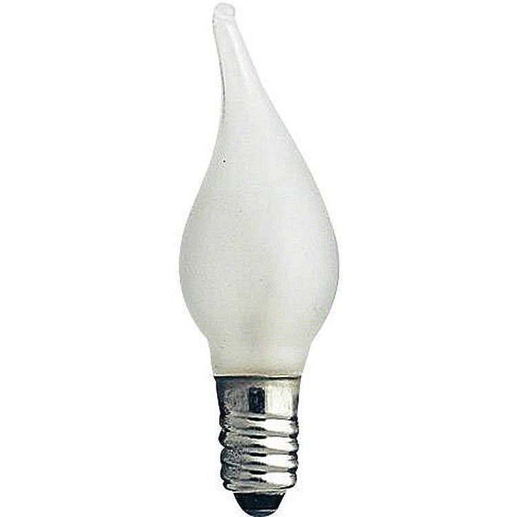 Flammkerze gefrostet  -  Sockel E10  -  12V/3W