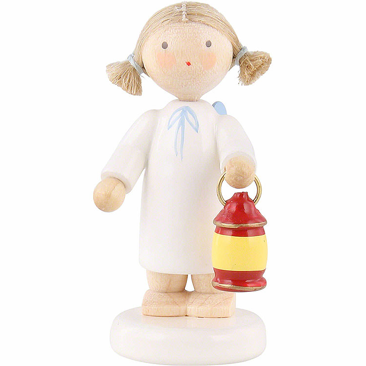 Flax Haired Angel with Lantern  -  5cm / 2 inch