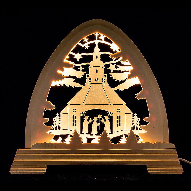Gotischer Bogen Seiffener Kirche  -  40x37cm