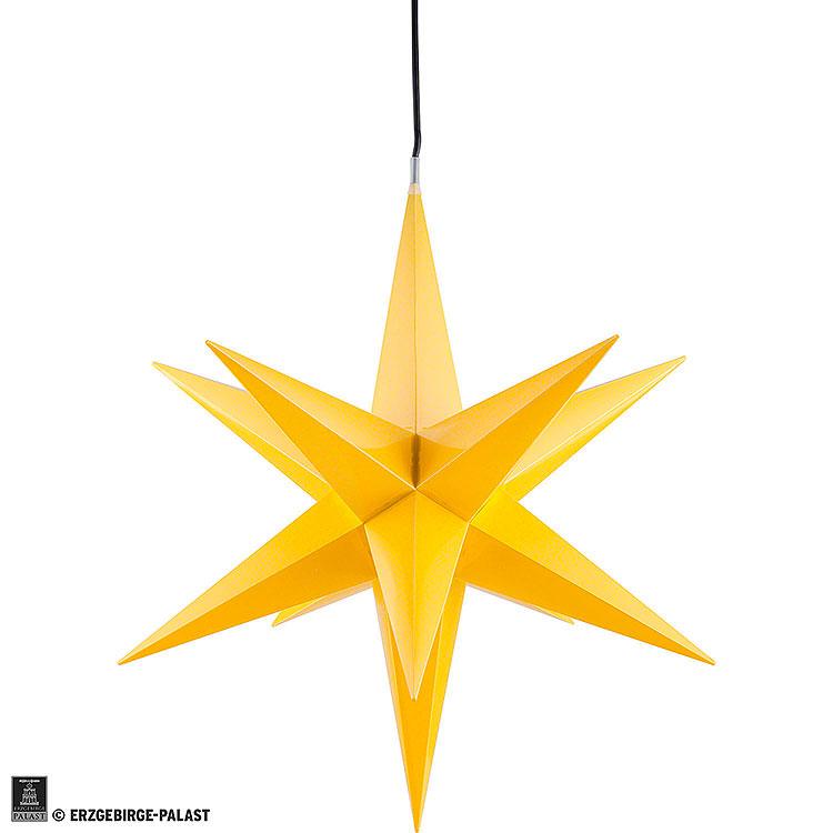 Haßlauer Weihnachtsstern für Innen und Außen gelb inkl. Beleuchtung  -  60cm