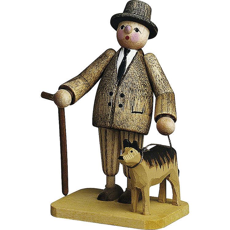 Herr mit Hund  -  7cm