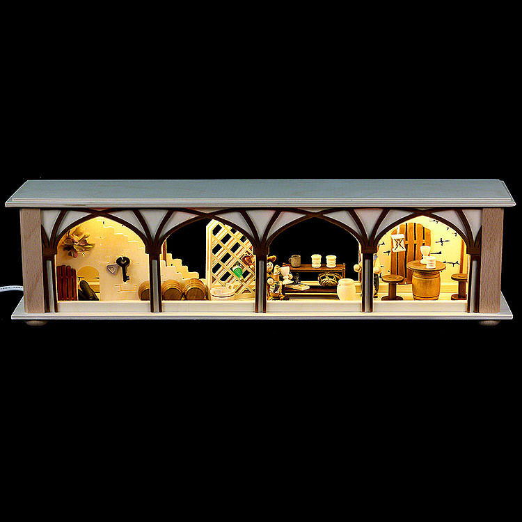 Illuminated Stand Wine Cellar for Candle Arches  -  50x12x10cm / 20x5x4 inch