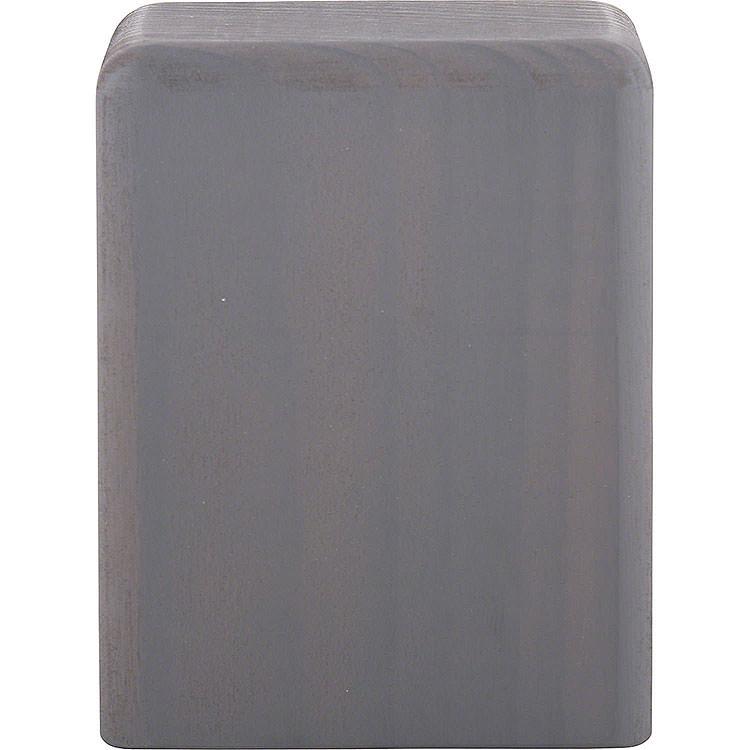 Klotz mittel grau  -  8cm