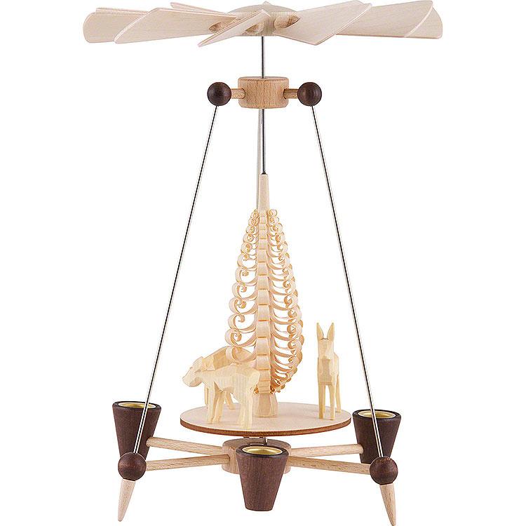 Nadelpyramide mit Rehen  -  26cm
