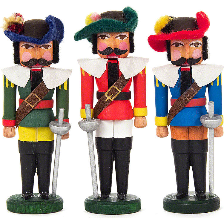 Nutcracker  -  Musketeers  -  Set of Three  -  7,5cm / 3 inch