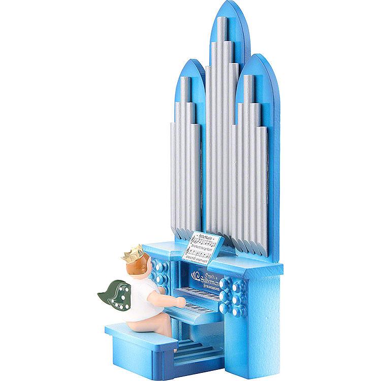 Orgel mit Engel mit Krone und Spielwerk  -  6,5cm