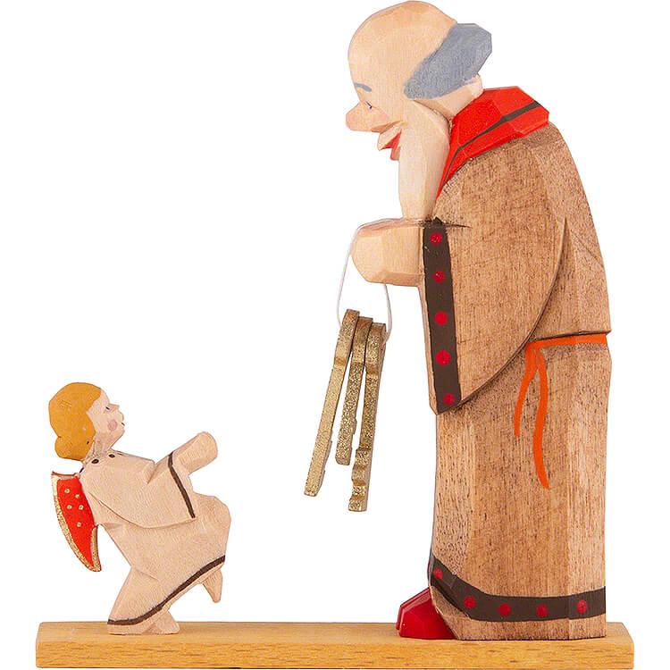 Petrus mit Engel  -  7,5cm