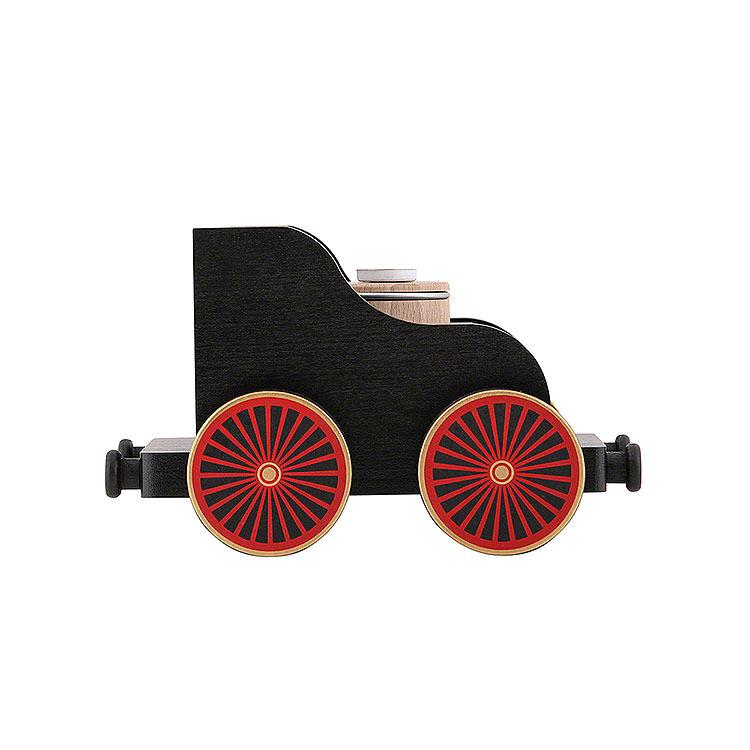 Railroad Car Black  -  19x12x13cm/7.4x4.7x5.1 inch