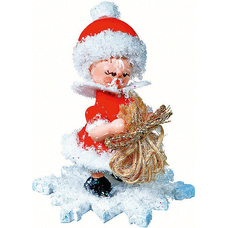 Schneeflöckchen als Weihnachtsmann  -  5cm