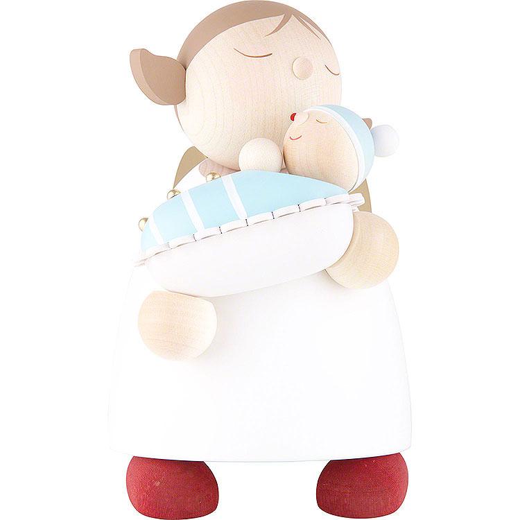 Schutzengel mit Baby Junge  -  16cm
