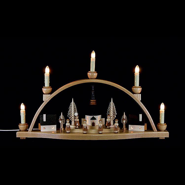 """Schwibbogen """"Seiffener Kirche""""  -  52x30x14cm"""