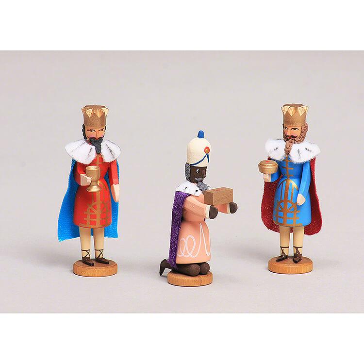 Seiffen Nativity  -  Three Magis  -  3 pieces  -  8cm / 3.1 inch