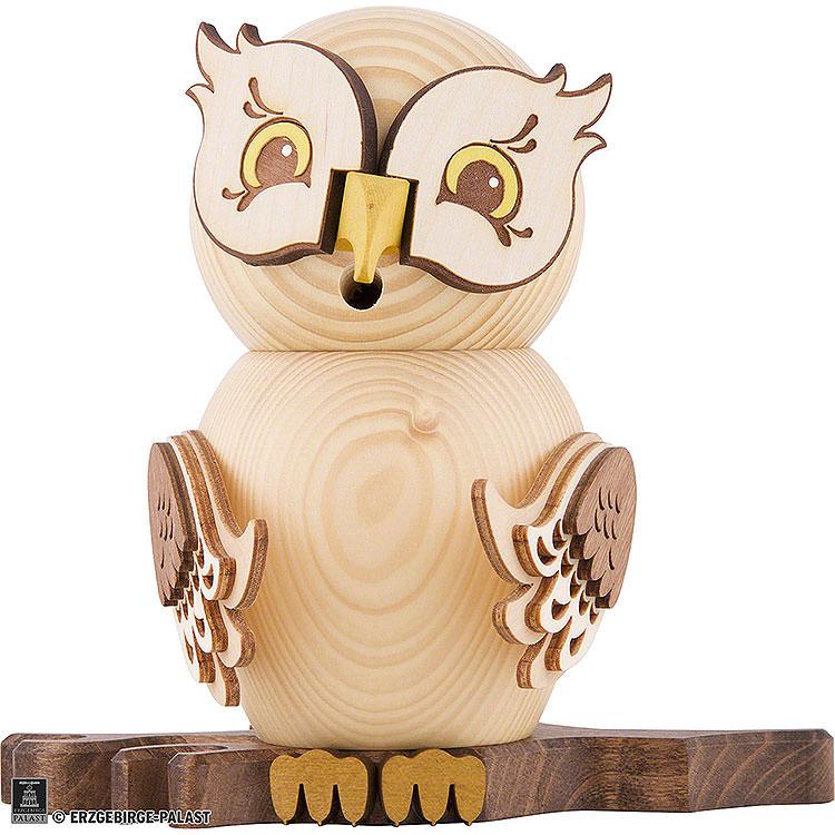 Smoker  -  Owl Natural Wood  -  15cm / 5.9 inch