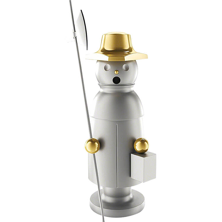 """Smoker  -  """"The Watchman""""  -  Stainless Steel, Glass Bead blasted  -  15cm / 5.9 inch"""