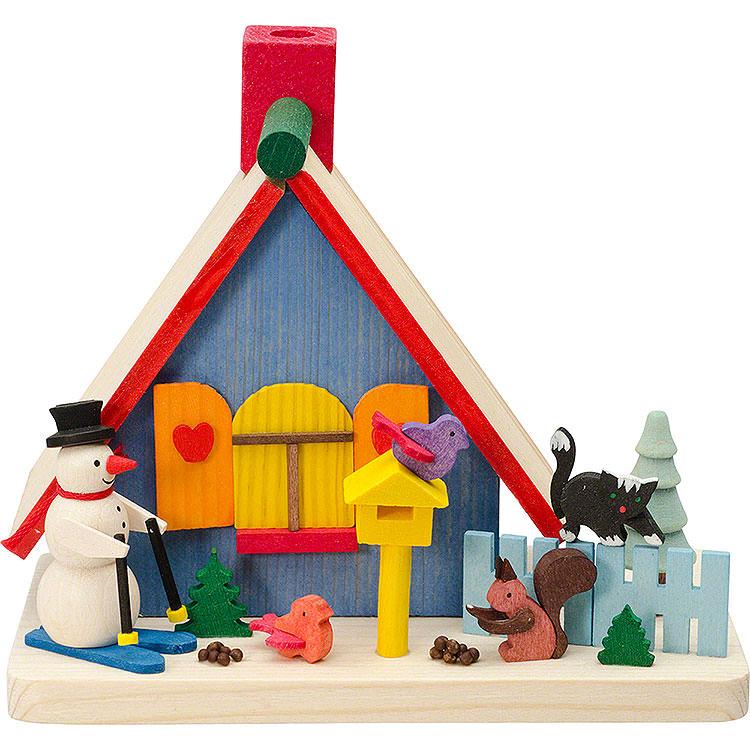 Smoking Hut  -  Snowman  -  11cm / 4.3 inch