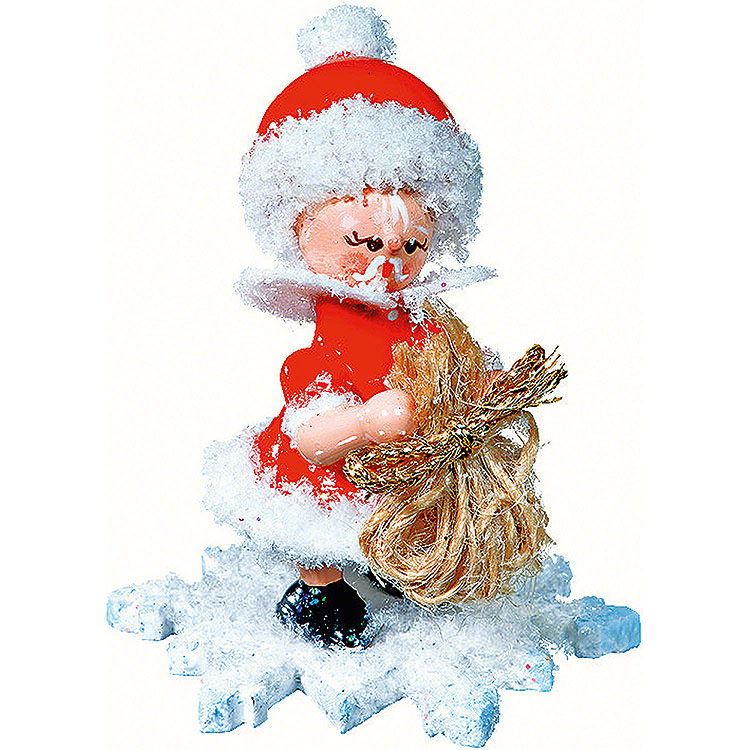 Snowflake as Santa Claus  -  5cm / 2 inch