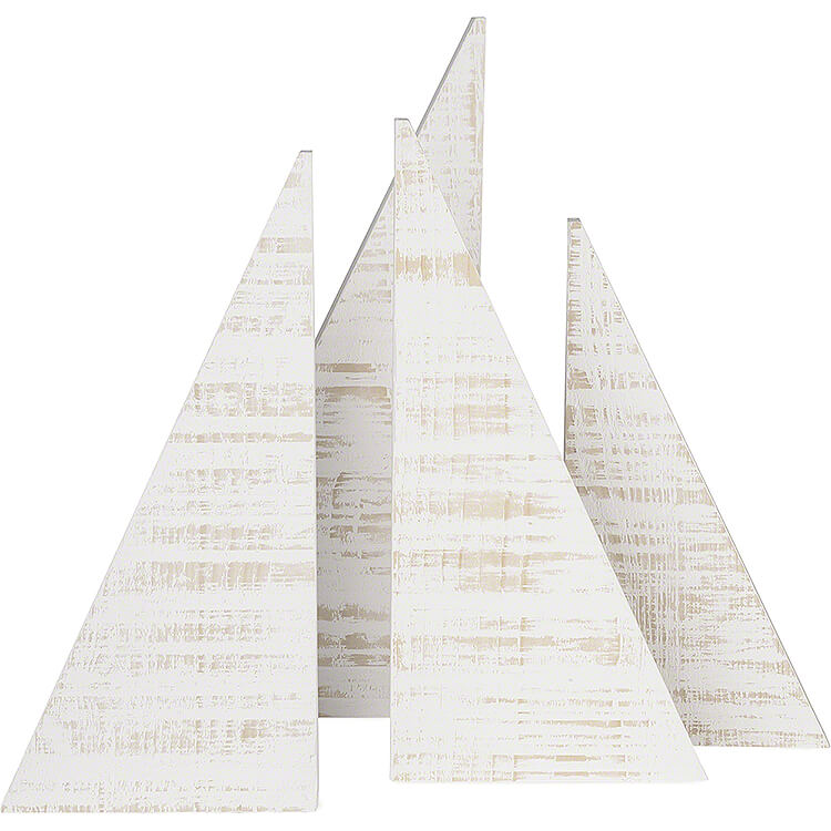 Spruces with Snow  -  Set of Four  -  35cm / 13.8 inch