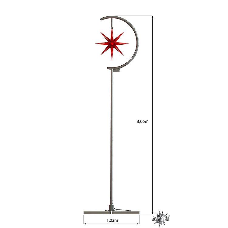 Sternenleuchte Außenbereich  -  rot  -  366cm