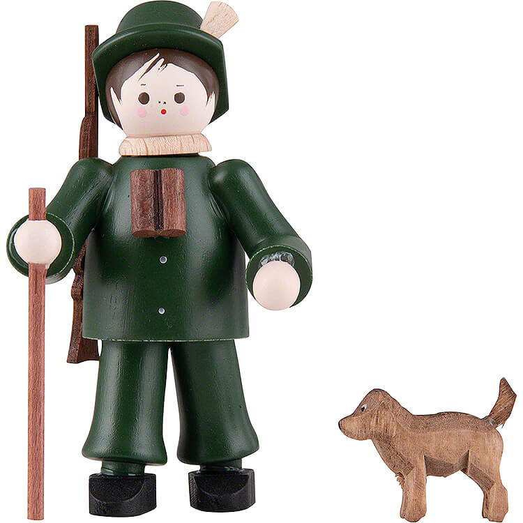 Thiel - Figur Förster mit Hund farbig  -  6cm