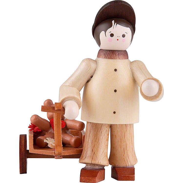 Thiel - Figur Junge mit Teddy im Wagen  -  5,5cm