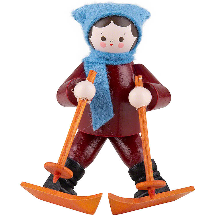 Thiel Figurine  -  Beginner on Skis  -  coloured  -  5,5cm / 2.2 inch