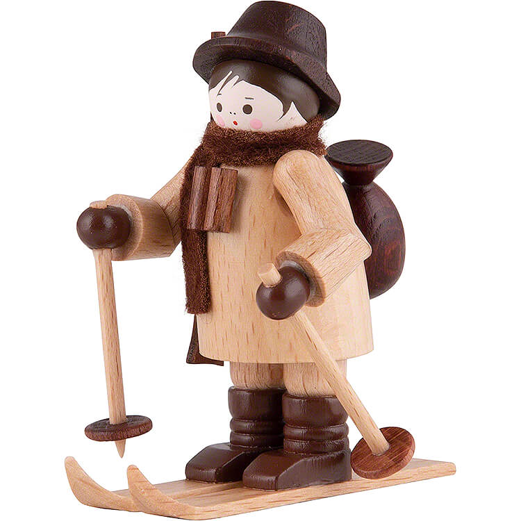 Thiel Figurine  -  Gamekeeper on Ski  -  natural  -  6cm / 2.4 inch