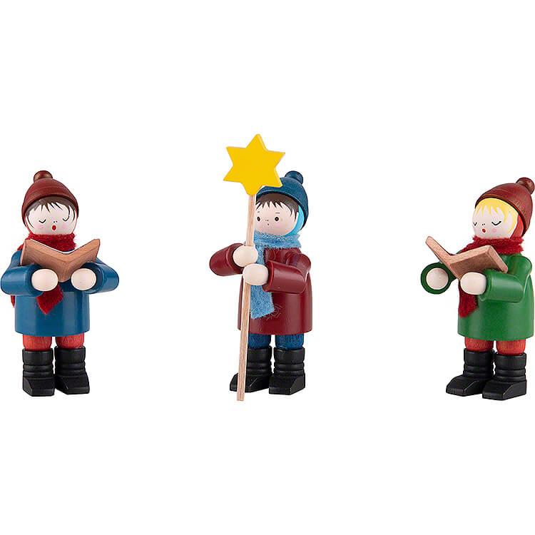 Thiel Figurines  -  Carolers  -  3 pieces  -  coloured  -  7cm / 2.8 inch