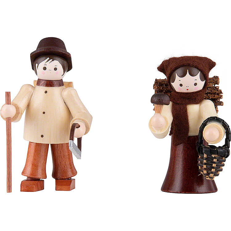 Thiel Figurines  -  Forest People  -  2 pieces  -  natural  -  6cm / 2.4 inch