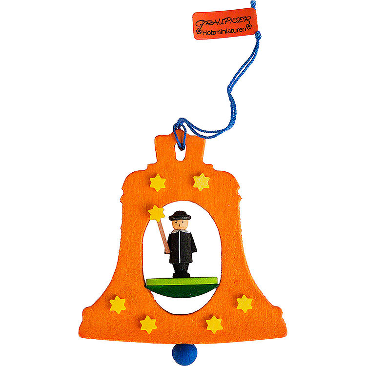 Tree Ornament  -  Bell with Carolers  -  7,5cm / 3 inch