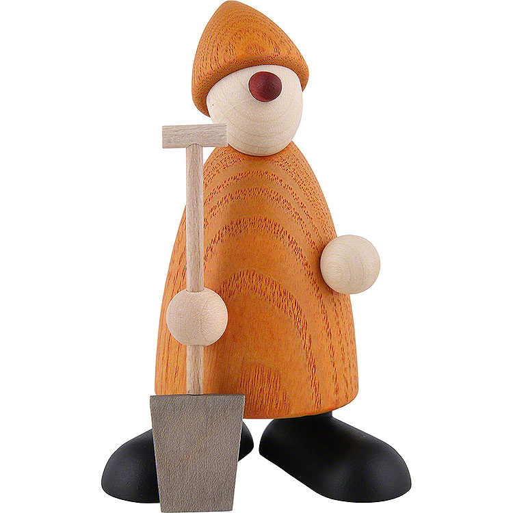Well - Wisher Hans with Spade, Yellow  -  9cm / 3.5 inch