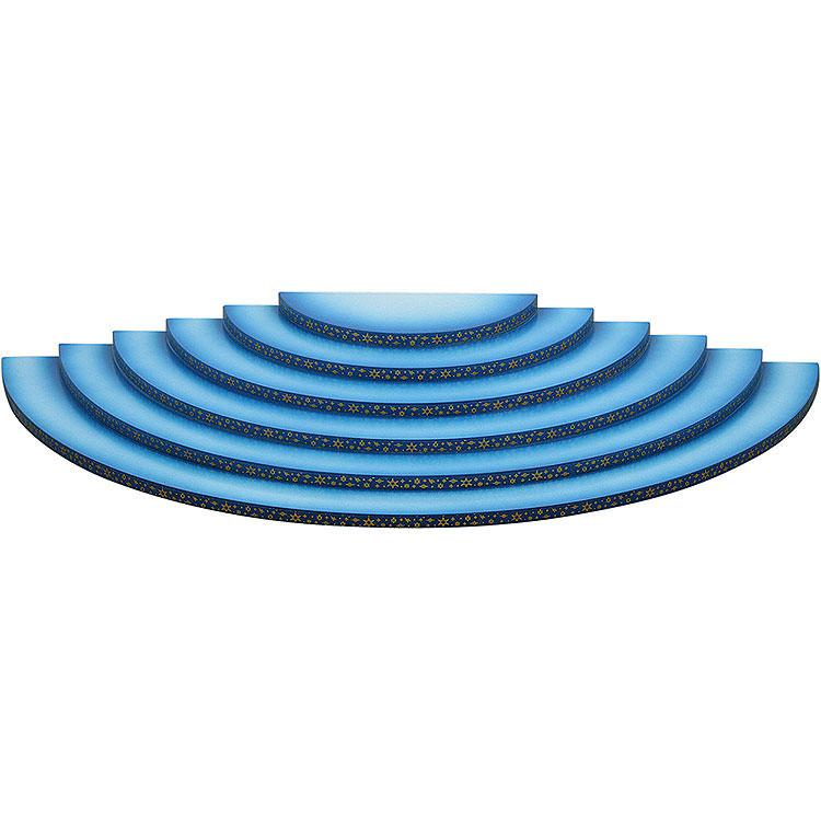 Wolke 6 - stufig blau - weiß  -  60cm