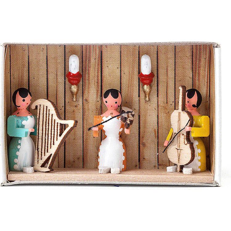 Zündholzschachtel Hausmusik  -  4cm
